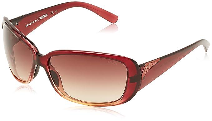 Smith Shorewood Gafas de Sol Rectangulares, Rojo (Shaded ...