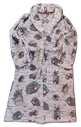 Next Ladies Woodland Animal Robe Dressing Gown Sizes S (8-10) M (12 ...