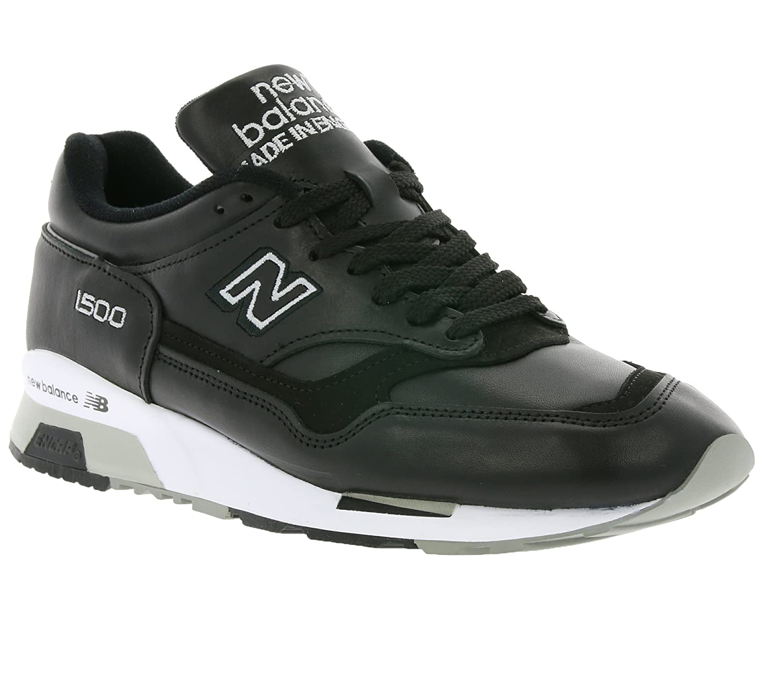 low priced 7a129 db558 New Balance 1500 Made in UK Men's Real Leather Sneaker Black ...