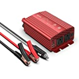BESTEK 300Watt Pure Sine Wave Power Inverter DC 12V to AC 110V Car Plug Inverter Adapter Power Converter with 4.2A Dual USB C