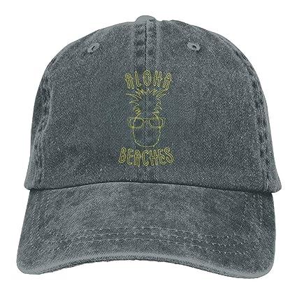 Aloha Beaches Pineapple Unisex Adjustable Baseball Caps Denim Hats Cowboy  Sport Outdoor  Amazon.fr  Vêtements et accessoires a733e918999