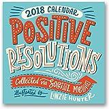 Orange Circle Studio 2018 Wall Calendar, Positive Resolutions Collected via Social Media