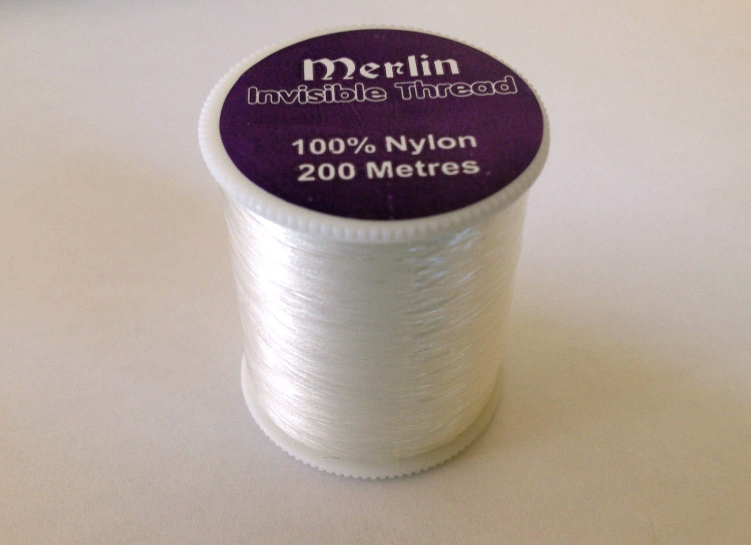 Merlin Nylon Invisible Clear Sewing Thread 200m Spool