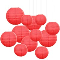 12PCS Paper Lanterns with Assorted Colors and Sizes Paper Lanterns Decorative,Chinese...
