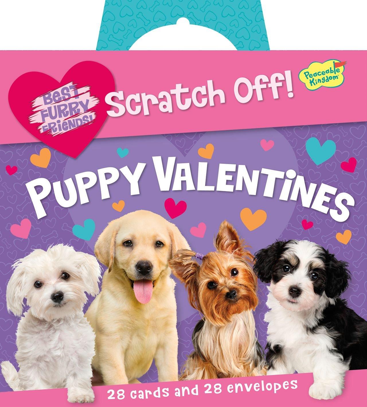 Amazon Peaceable Kingdom Puppy Love ScratchOff Message Super – Message in Valentines Card