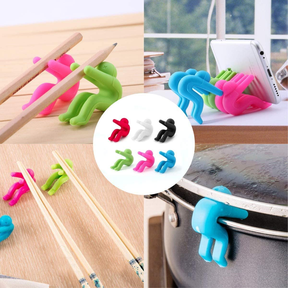 Kitchen Tools Lid Stand Heat Resistant Holder Keep The Lid Open Spill-proof Lid Lifter for Soup Pot 6 Pack Great Cooking Helpers and Decoration