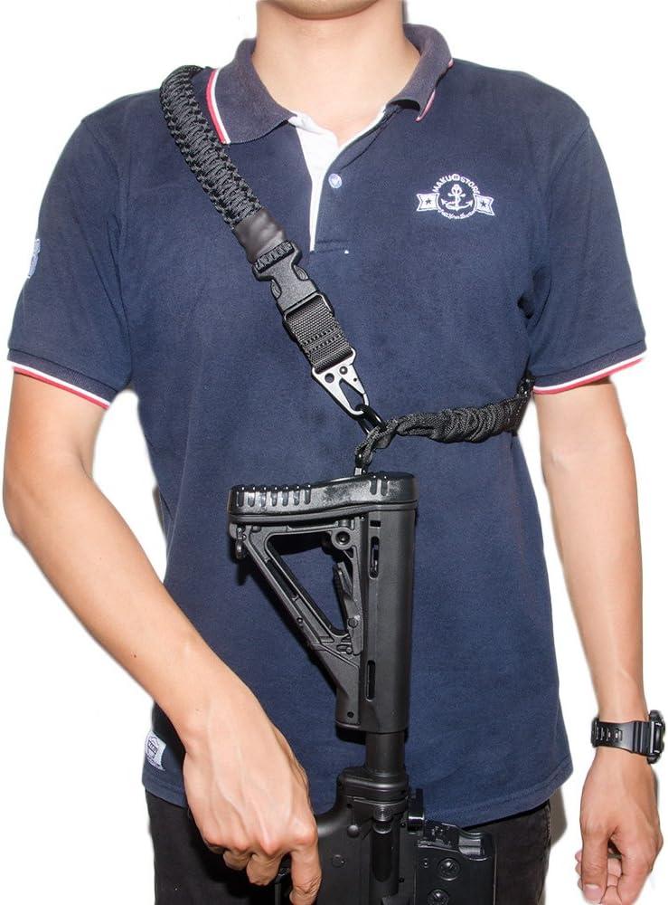 Tactical Element Cabestrillo Arma Paracord 2 a 1 Punto Correa Arma Convertible Longitud Ajustable Clips de Fijación Rápida