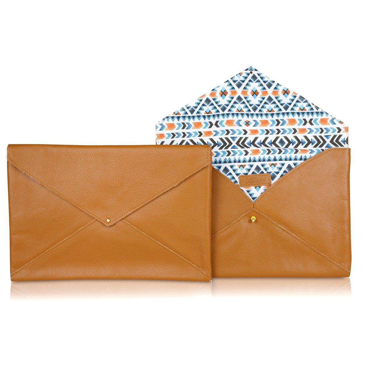 Funky Monkey Fashion Brand Envelope Clutch Bag For Women   Ladies Casual Evening Purse   Girls Night Club and Wedding Party Handbag - Aztec - Tan by Funky Monkey Fashion (Image #1)