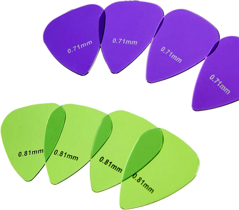 AmazonBasics - Púas de guitarra de colores transparentes, de ...