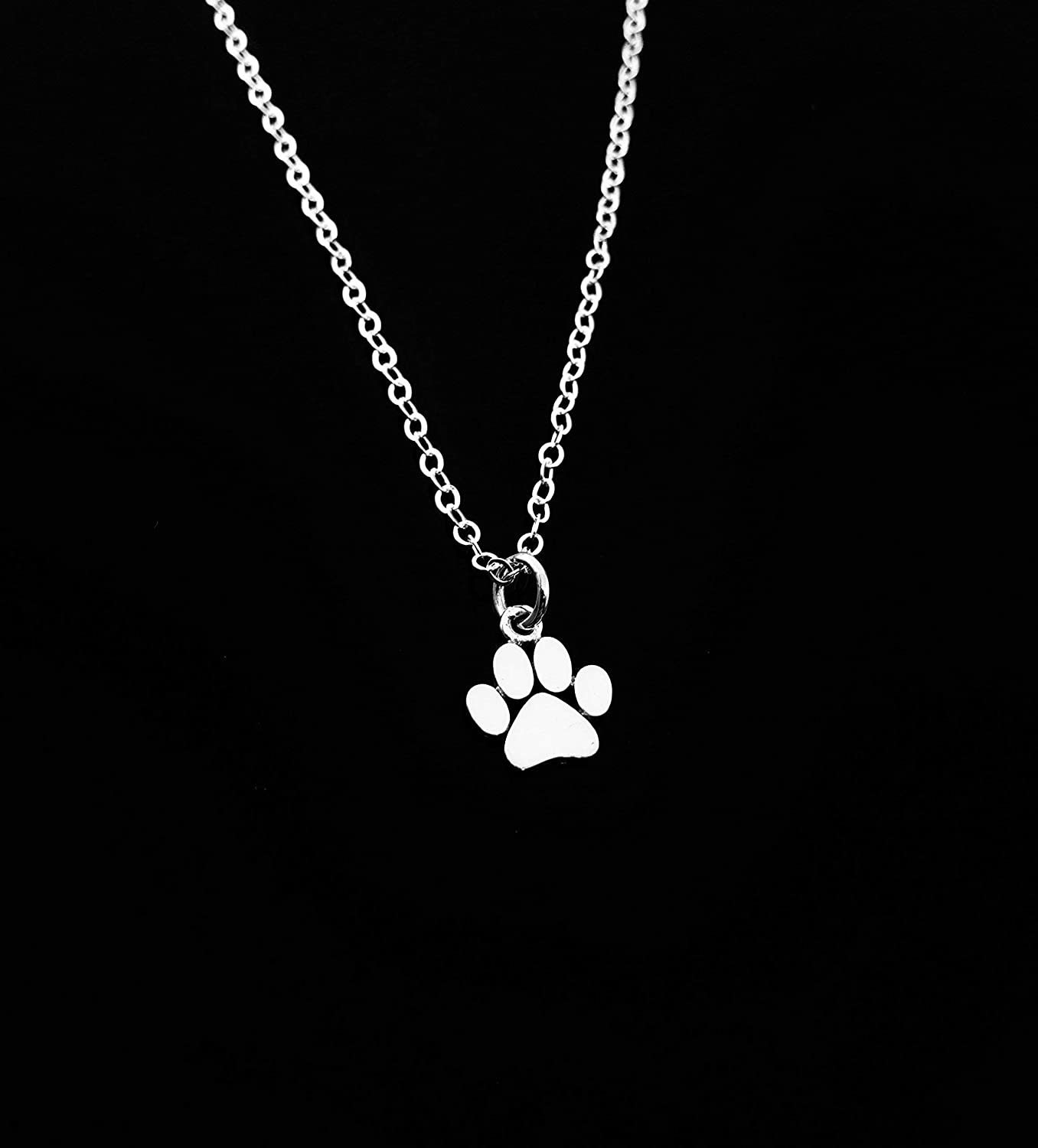 Silver Paw Print Charm Personalised Silver Heart Charm Pet memorial Gift for dog owner Paw print jewellery Unique gift for dog lover