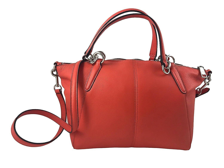 3adea6c7e4 Coach Small Kelsey Pebble Leather Satchel in Bright Orange F36675: Handbags:  Amazon.com