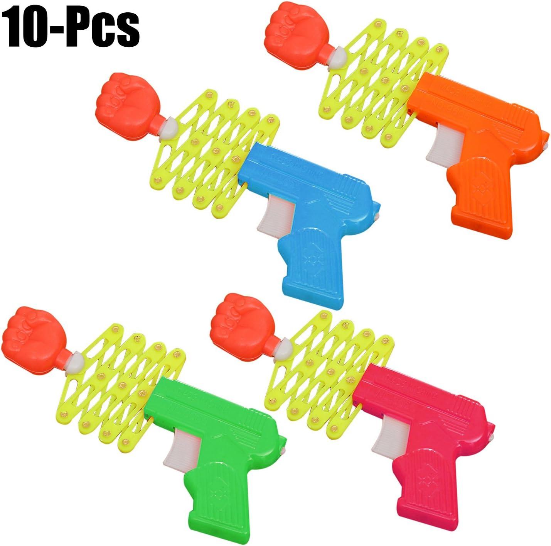 FunPa 10 Unids Juguete para NiñOs, Pistola De PláStico Juguete Creativo Magic RetráCtil PuñO Tirador NiñOs Juguete Divertido Juguete Tricky para Tontos Suplementos Diurnos (Color Al Azar)