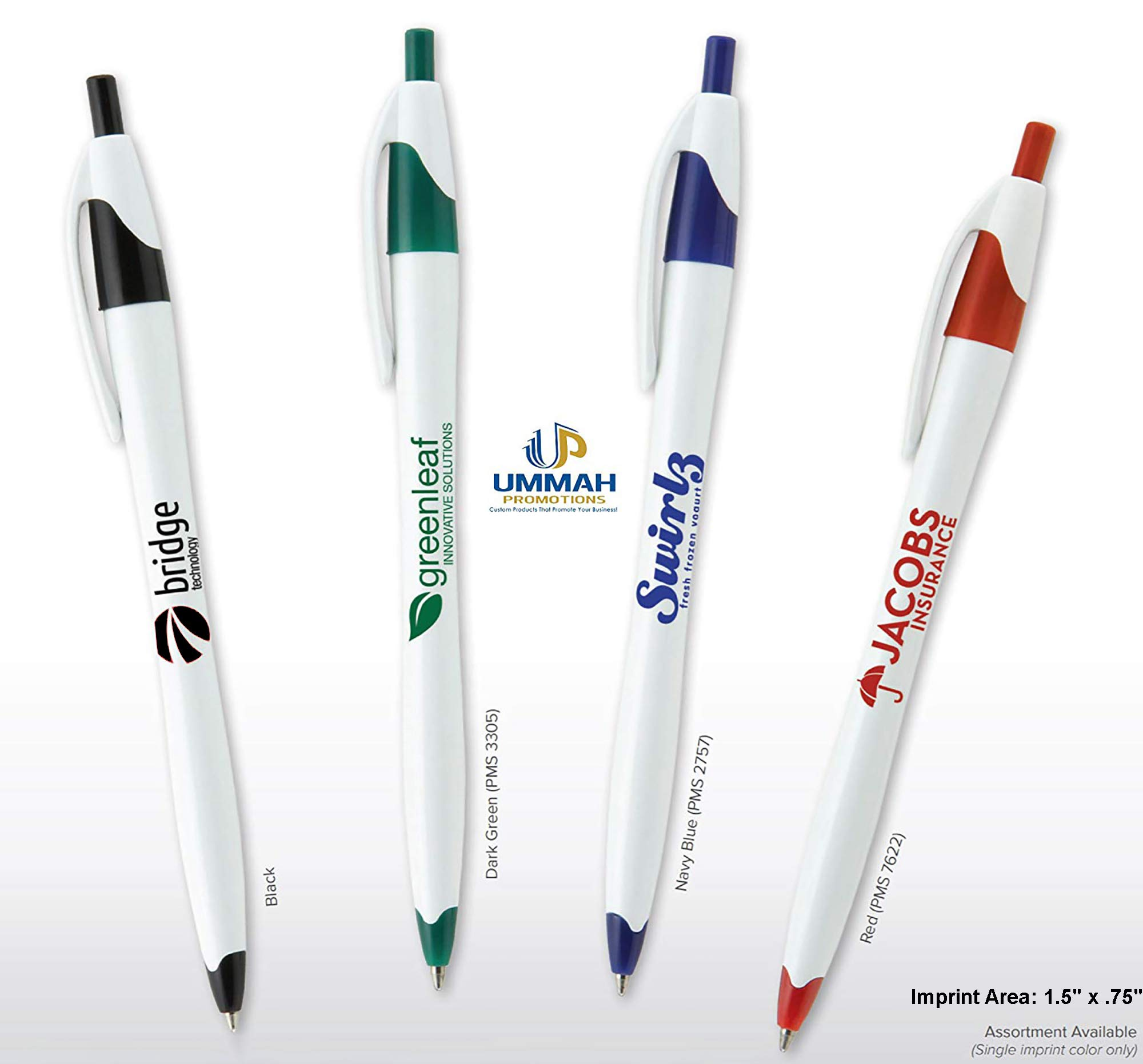 250 Promotional Classic Click Pen Printed with Your Logo or Message by Ummah Promotions