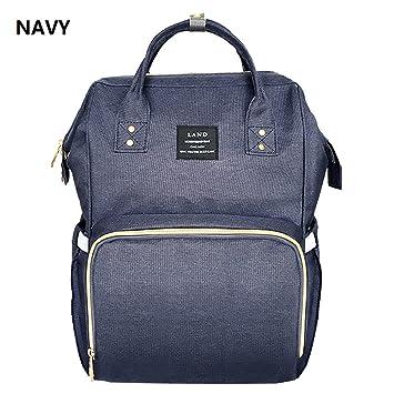 Amazon.com   Land Fashion Nappy Mummy Backpack Diaper Bags Baby Newborn  Shoulder Bag-Navy   Baby 521797f4db6d1