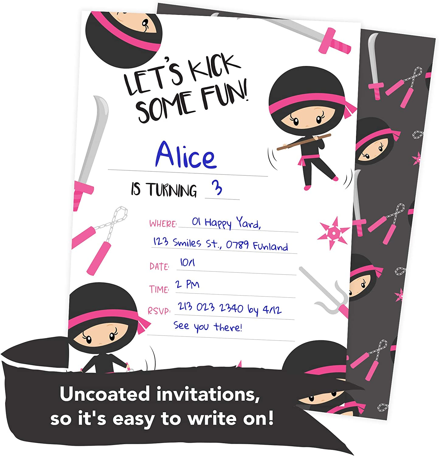 Pink Baby Girl Birthday Invitation Card Is Turning One With Flowers..  Royalty Free Cliparts, Vectors, And Stock Illustration. Image 128164723.