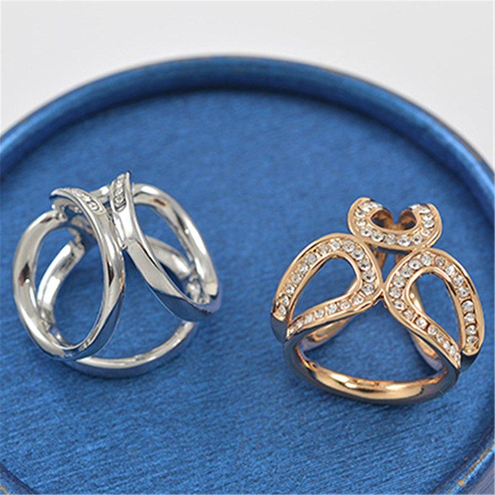 Nuohuilekeji Rhinestone Garland Hoop Twine Brooch Silk Scarf Clip Buckle Holder Jewelry Gift