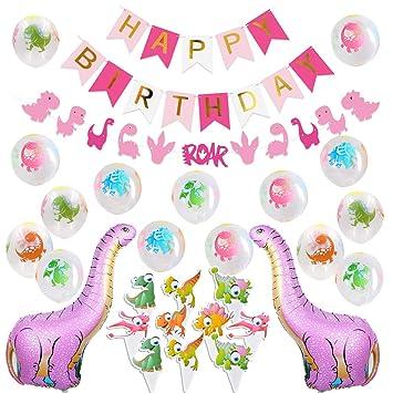 Kreatwow Decoraciones de Fiesta de Dinosaurios para Globos ...