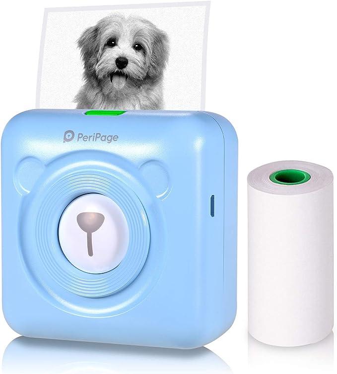 Aibecy Peripage Mini Fotodrucker Wireless Bt Thermodrucker Picture Label Memo Receipt Drucker Mit Usb Kabel Für