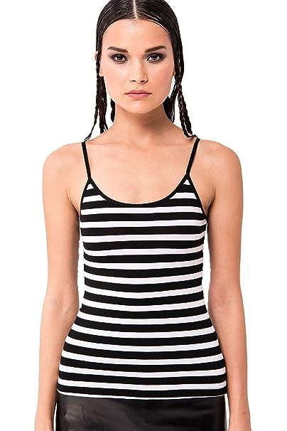 2c51e87ca25e3 KIKI RIKI Women s Sleeveless Scop-Neck Striped Tank-Top at Amazon Women s  Clothing store