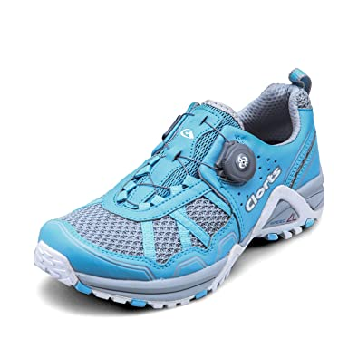 Clorts Women's BOA Runner Lightweight Fashion Sneakers Athletic Speed  Running Shoe Blue 3F013G US6.5