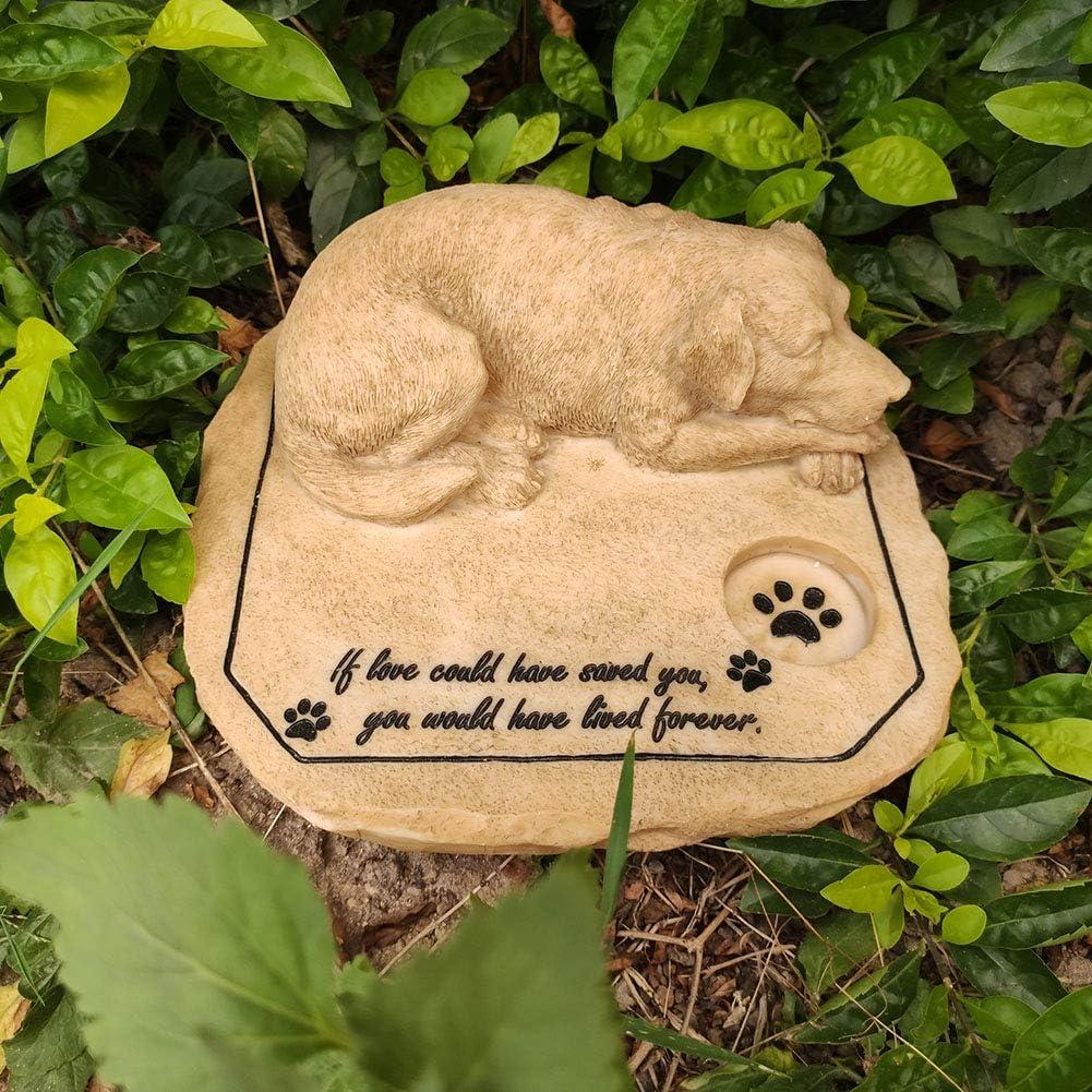 MARYTUMM Dog Memorial Stone by Waterproof Resin, Weather Resistant Dog Memorial Statue for Outdoor Garden Decor, Garden Stone 3D Dog