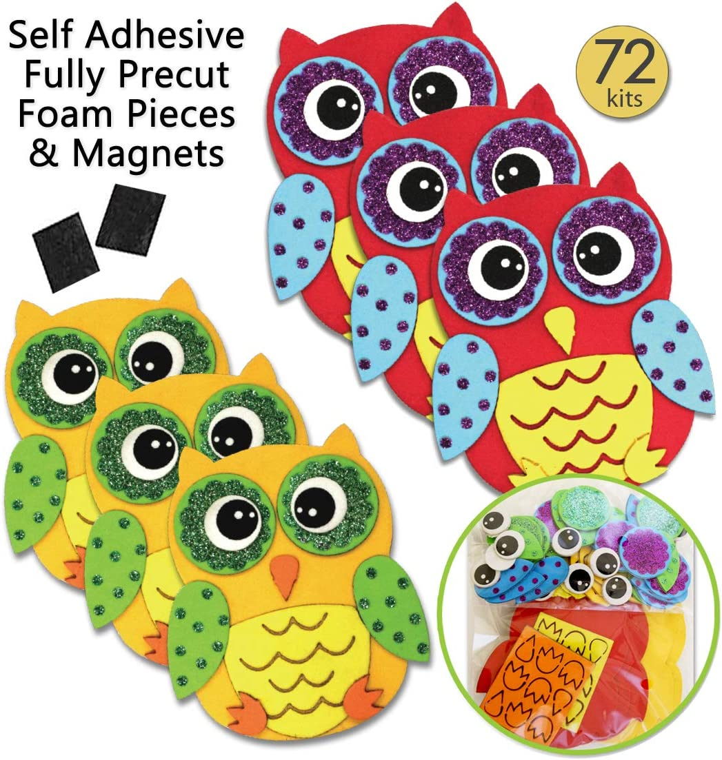 Amazon Com Owl Stickers Foam Crafts For Kids Magnet Kits For Kids