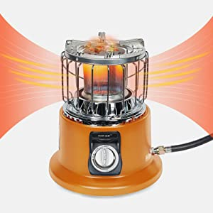 Campy Gear 2 in 1 Portable Propane Heater & Stove, Outdoor Camping Gas Stove Camp Garage Tent Heater for Ice Fishing Hiking Hunting Survival Emergency & Patio (Orange, CG-3000B)