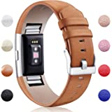 Hotodeal Fitbit Charge 2 Leather Bands, Genuine Leather Replacement Band Accessories for Fitbit Charge 2 Fitness Strap