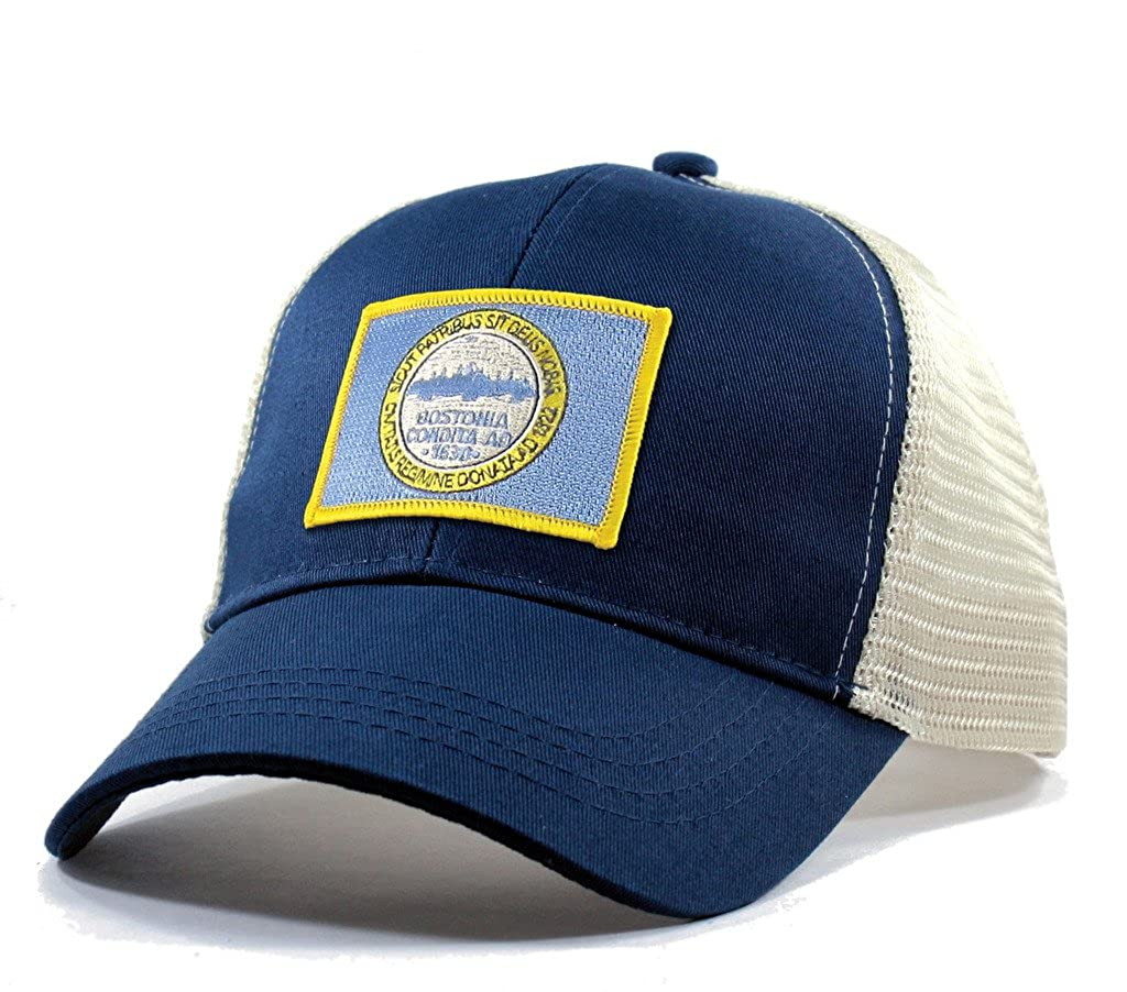 Homeland Tees Mens Boston Flag Patch Trucker Hat