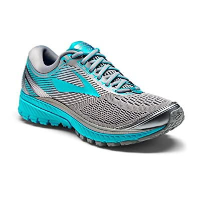 b16de73f8c0 Brooks Women s Ghost 10 Primer Grey Teal Victory Silver Athletic Shoe   Amazon.in  Shoes   Handbags