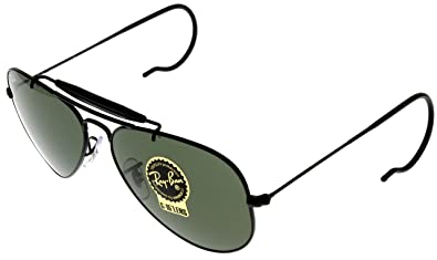 41ffff513d4 Image Unavailable. Image not available for. Color  Ray Ban Outdoorsman  RB3030 L9500 58mm Black Frame