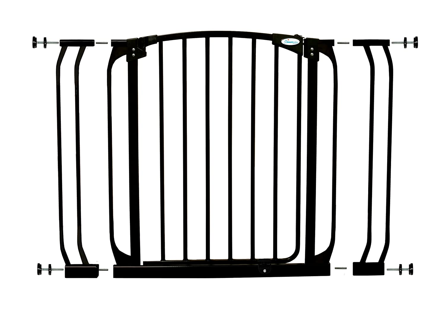 Dreambaby Chelsea Safety Gate Set - 1 gate + 2 extensions (fits 71cm-98cm) Black Dreambaby® F778B