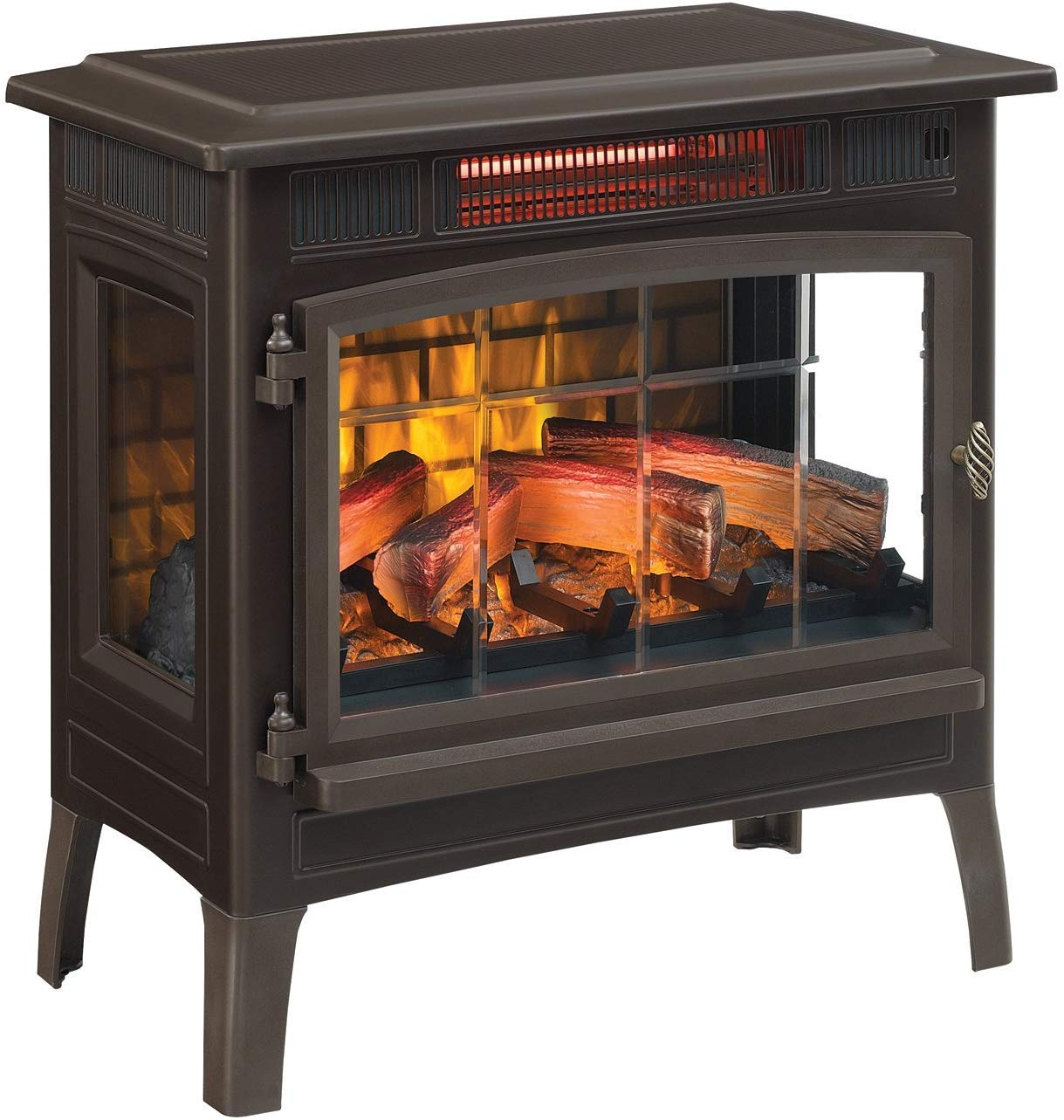 Duraflame 3D Infrared Electric Fireplace Stove with Remote Control - Portable Indoor Space Heater - DFI-5010 (Bronze) by Duraflame
