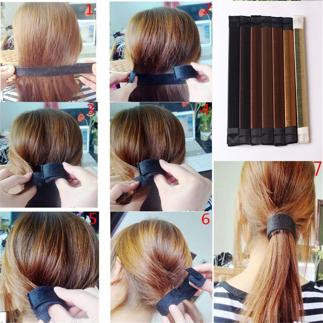 1Pc Girl Hair Styling Tools Foam French Tool DIY Hair Styling Tools Roller Styling Tool Brown 3 by HAHUHERT (Image #4)