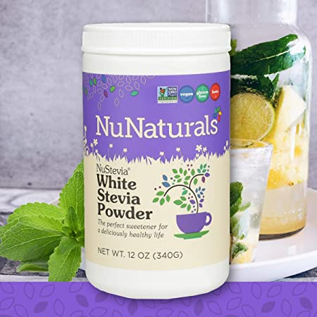 NuNaturals White Stevia Powder Natural Sweetener 12 oz