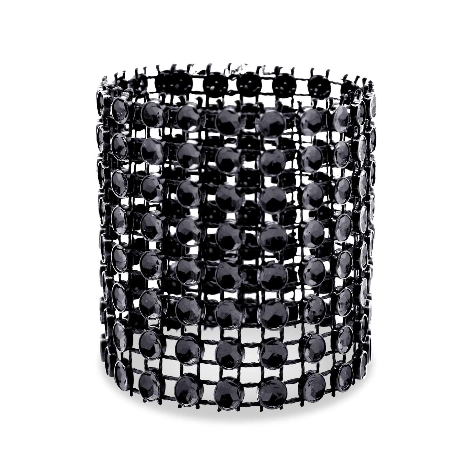 120, Black Family Gatherings Dinner or Holiday Parties KPOSIYA Napkin Rings Wedding Receptions Pack of 120 Rhinestone Napkin Rings Diamond Adornment for Place Settings