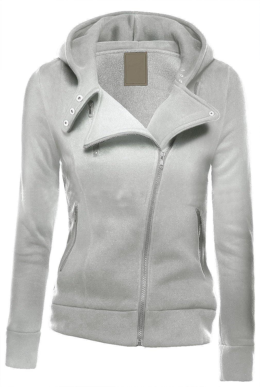 0a44e42942793 Minetom Mujeres Cremallera Sudadera con Capucha Chaqueta Corta con Capucha  Estilo Casual Jacket Sportswear BW161103-ES07