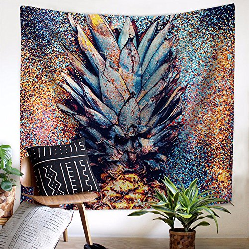 A1 Polyester (XXSZKAA Nordic Living Room Polyester Tapestry Creative Pineapple Tapestry Photography Background Cloth Wall Hanging Beach Towel Wallpaper,A1,200150Cm)