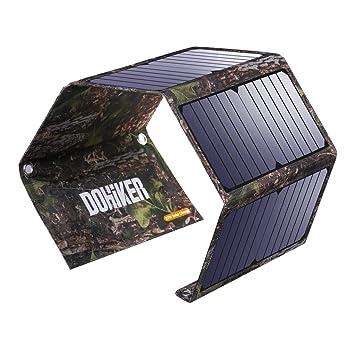 Dohiker 27W Cargador Solar portátil y Plegable con 3 Puertos USB al Aire Libre Emergencia de Campo de Viaje para Carga Multifuncional Teléfono móvil ...