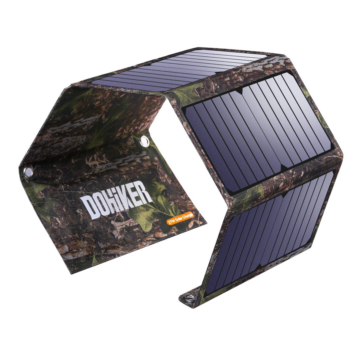 Dohiker Portable Foldable Solar Panel Charger, 27W Solar Phone Charger with 3 USB Ports,Durable & Waterproof Solar Charger for Cell Phone, PowerBank, and Electronic Devices, Great for Camping, Hiking by Dohiker (Image #1)