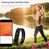 Enhance Limited Edition Ultimate ID115 Hr Premium Fitness Band (Black)