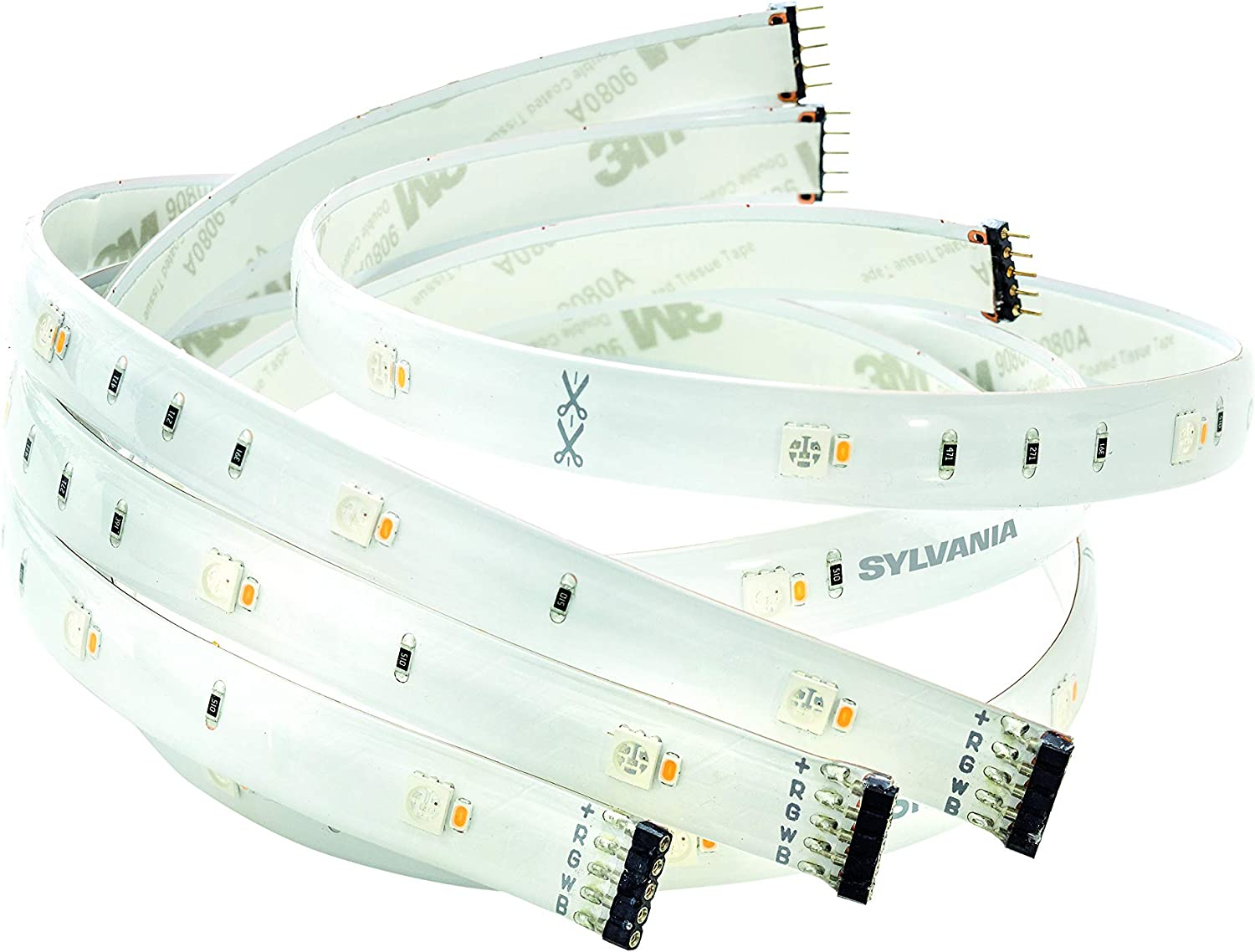 SYLVANIA SMART+ Bluetooth Indoor Full Color Flexible Lightstrip Starter Kit, Works with Amazon Alexa, the Google Assistant, and Apple HomeKit, No Hub Required