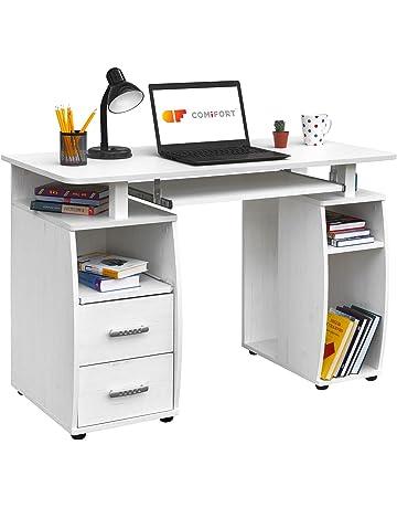 COMIFORT Mesa de Ordenador, Escritorio, Mesa de Oficina, 115x55x85 cm
