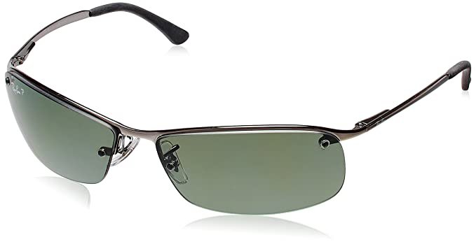 31788684065 Image Unavailable. Image not available for. Colour  Ray-Ban Rectangular  Sunglasses (Gunmetal) (RB3183
