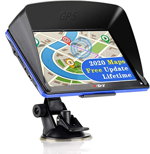 Xgody GPS Navigation Systems for Car, 7 Inch HD Touch Screen 8GB Android Vehicle GPS Navigator for Truck Drivers with Free Lifetime Map Updates Voice Broadcast