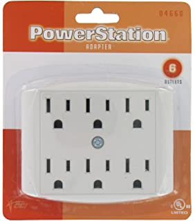 04660 6 Outlet Adaptor White