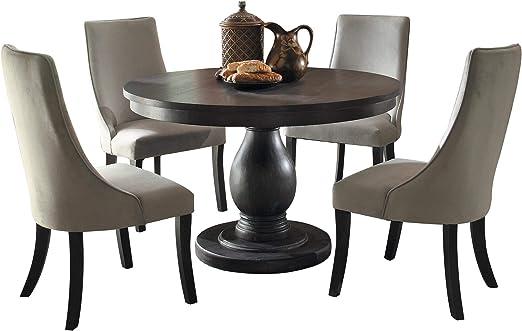 Dakins Juego de Mesa Redonda y 4 sillas de Comedor, 5