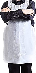 Disposable Aprons - 100 Plastic Aprons for Painting, Cooking or Any Other Messy Activities by Upper Midland