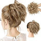 HMD Tousled Updo Messy Bun Hair Piece Hair Extension Ponytail With Elastic Rubber Band Updo Extensions Hairpiece…