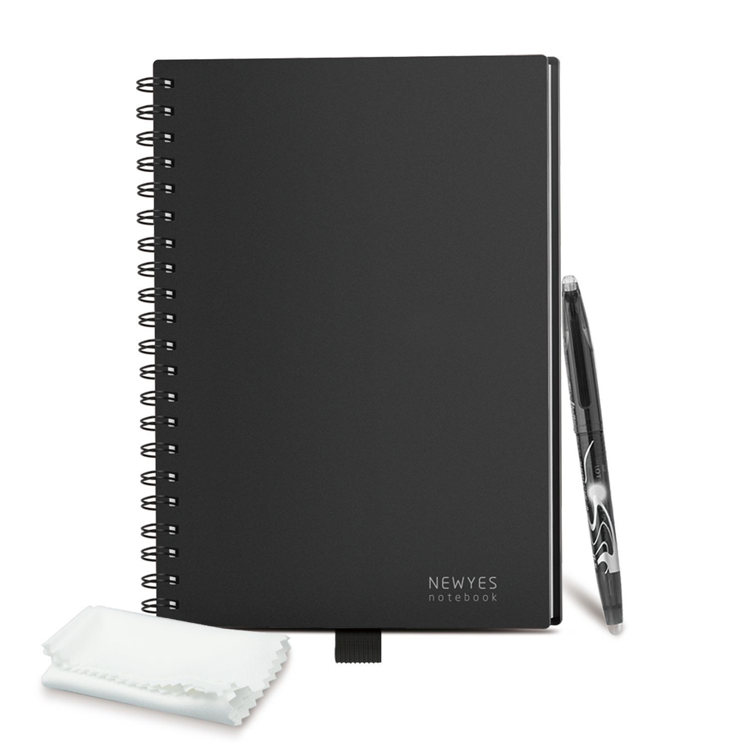 Erasable Reusable Smart Notebook Composition Jotter Sketch Pads APP Storage Available with 1 Pilot FriXion Pen Perfect for Student/Archiect/Journalist/Writer (60pages-6.99.8 Inch-B5-Black)
